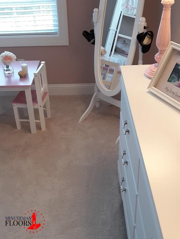 Installing Carpet in Child room