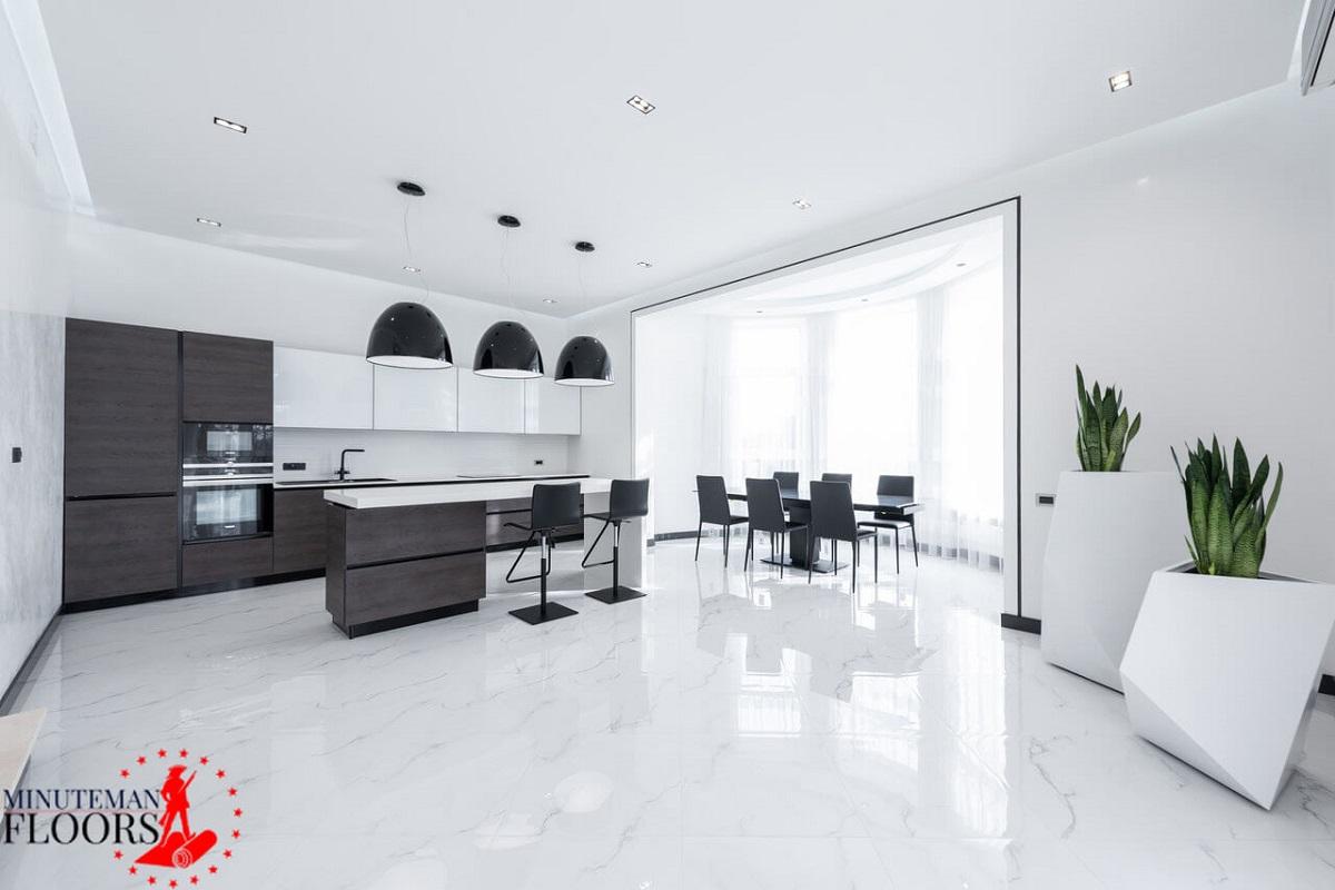 Ceramic flooring for kitchen-Manchester NH